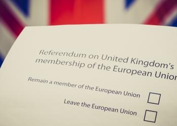 UK referendum on EU Membership - ballot paper brexit