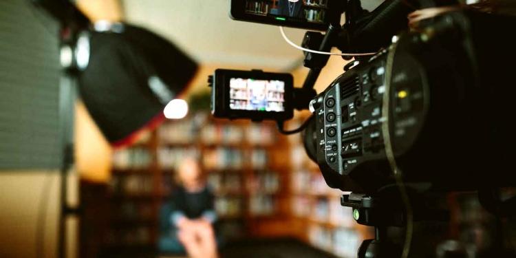 video camera shooting