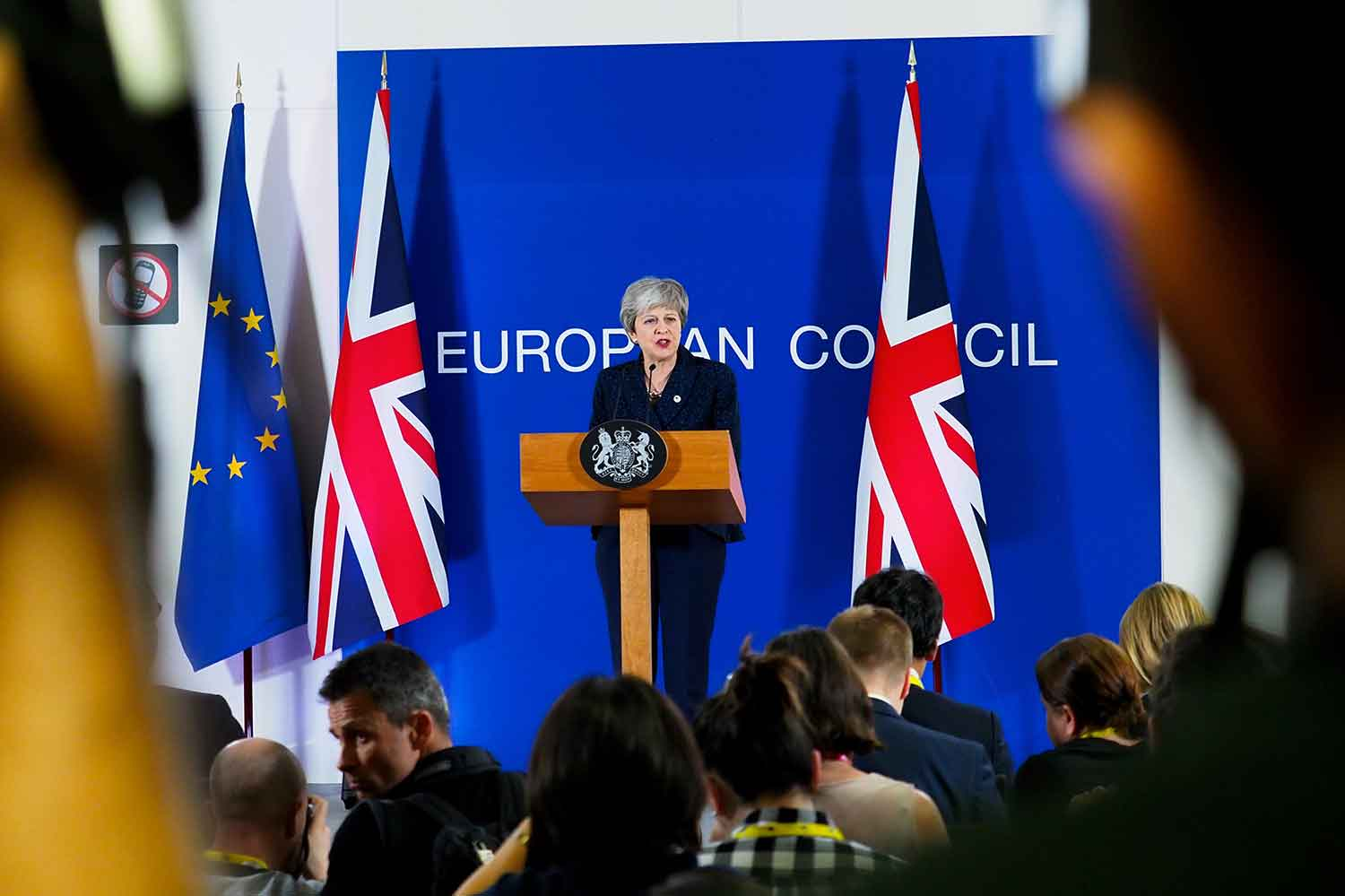 British Prime Minister Theresa May in Brussels