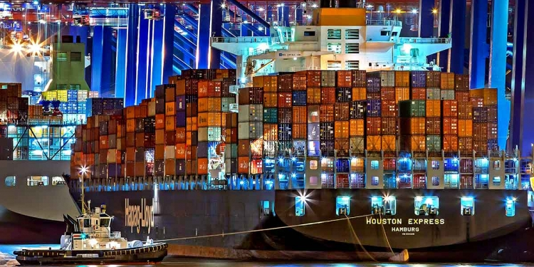 Trade Hamburg Port Of Hamburg Container Ship Germany
