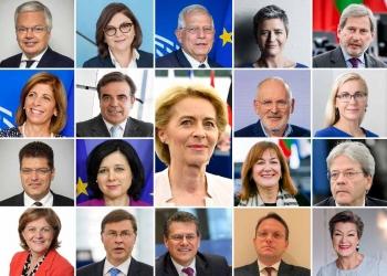 President Ursula von der Leyen with New Commissioners