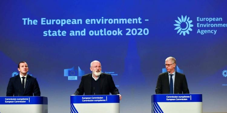 Green Deal EEA State of the Environment Report Virginijus Sinkevičius, Frans Timmermans, Hans Bruyninck