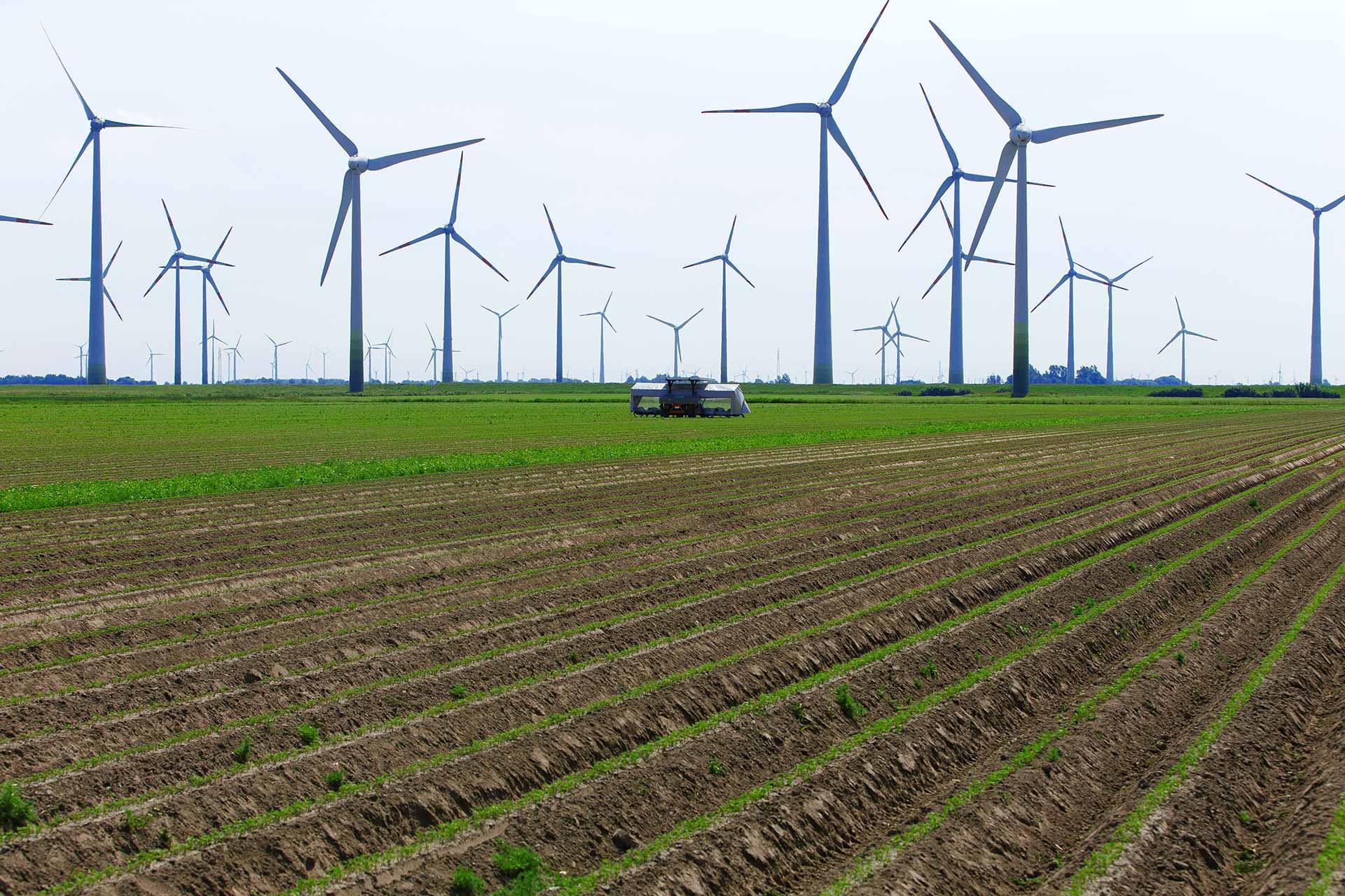 Agriculture farm wind power