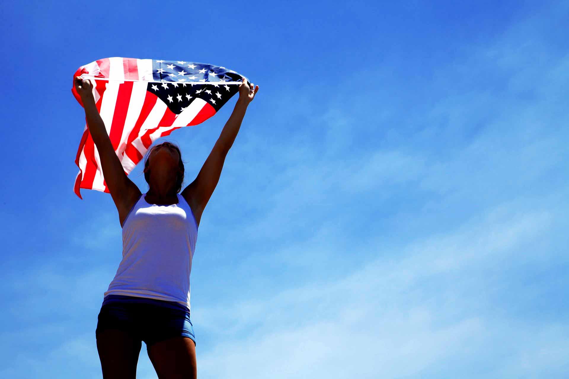 America USA citizen American US flag