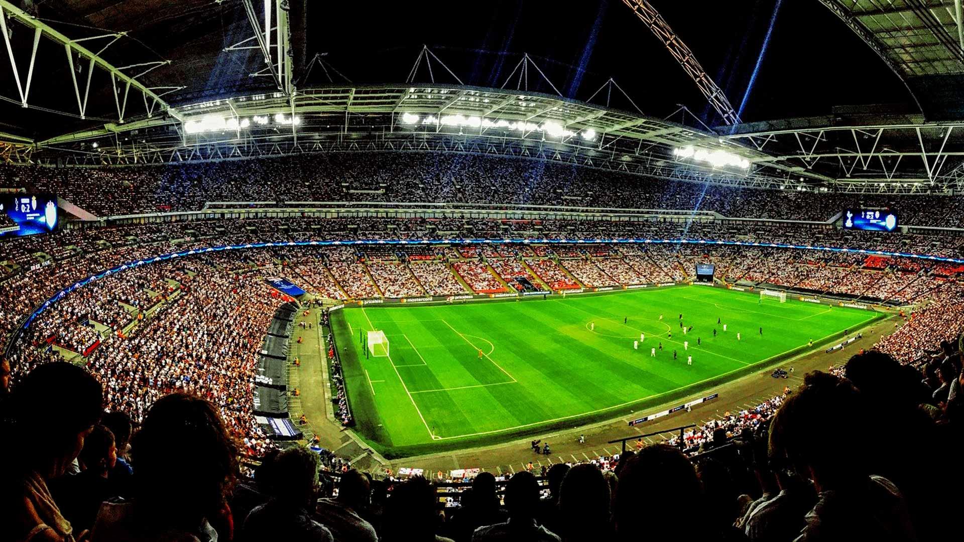 Football-Match Stadium audience spectators