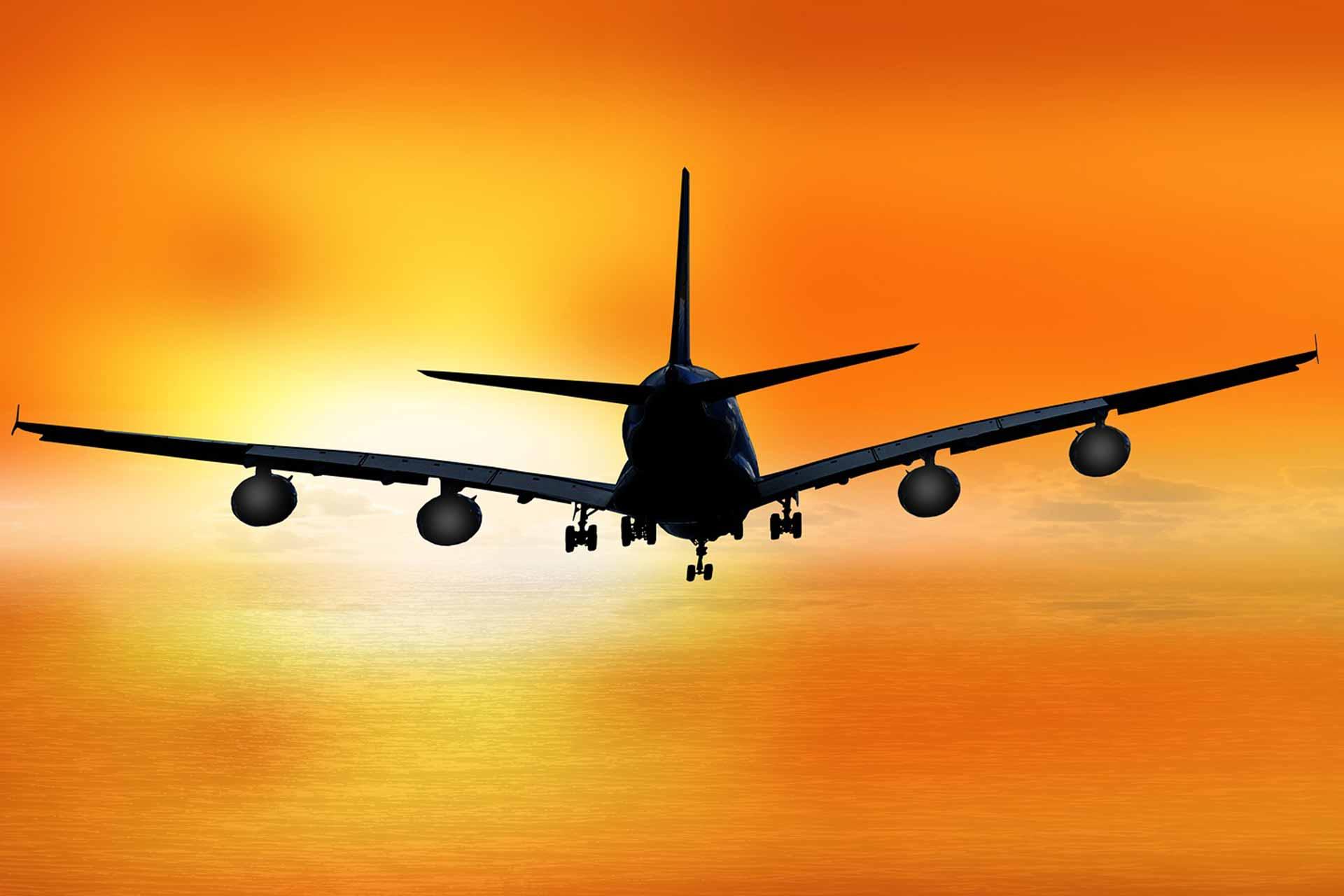 travel airplane landing