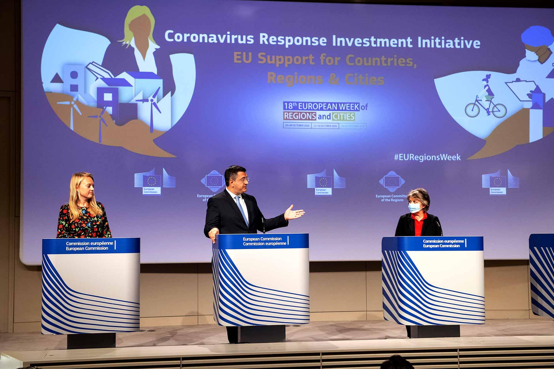 Coronavirus Response Investment Initiative (CRII) with local authorities, Regions and Cities
