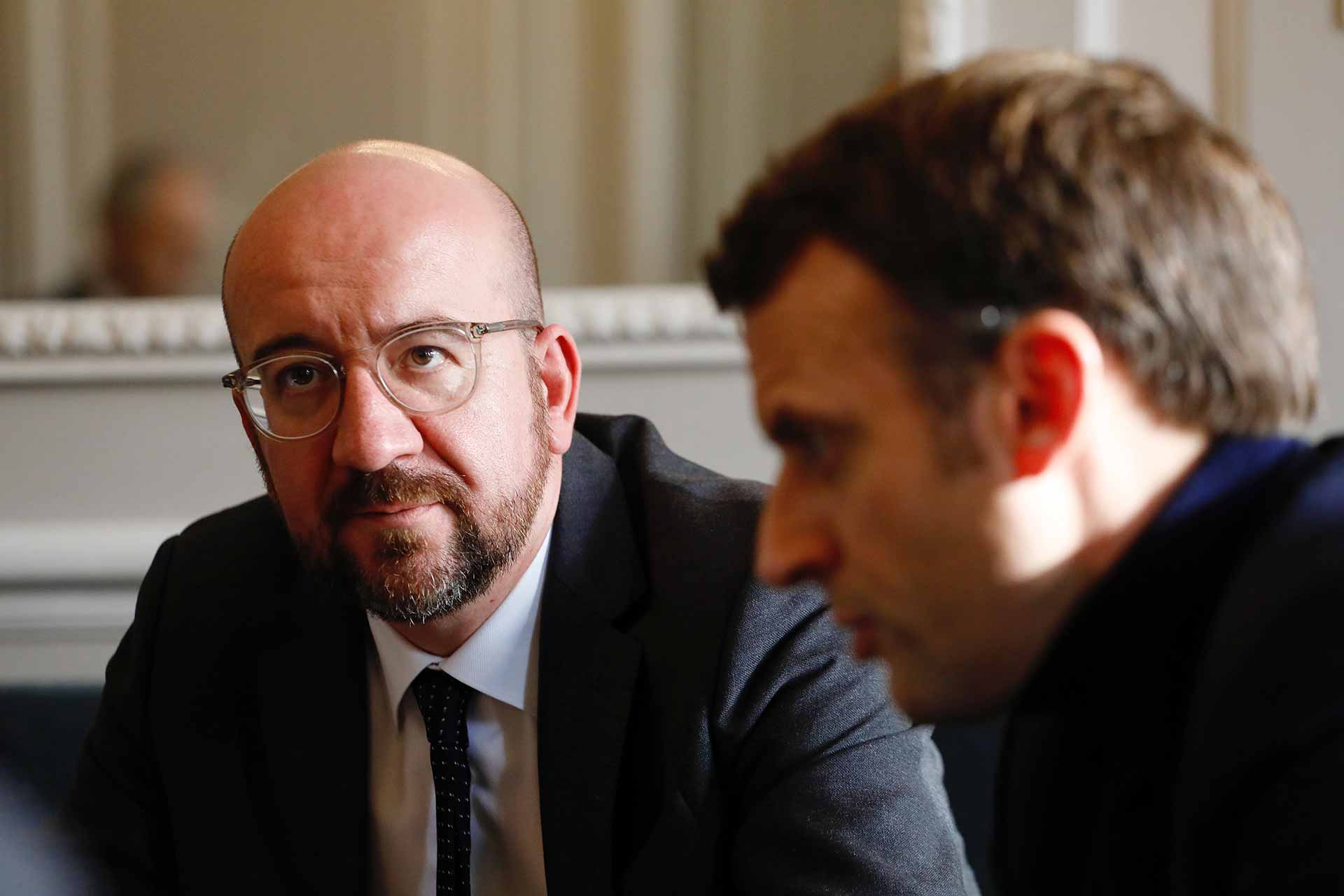 Emmanuel MACRON (President of France, France), Charles MICHEL (President, EUROPEAN COUNCIL)