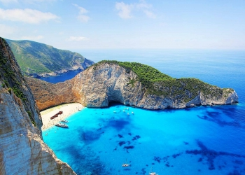 shipwreck Greece Zante island is in the Top 10 places of Europe