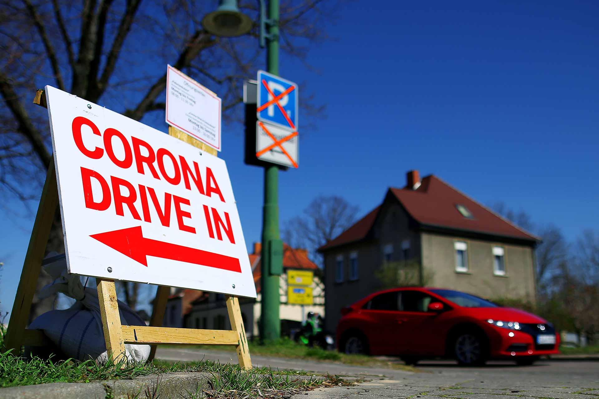 Corona Drive-In Germany Coronavirus test