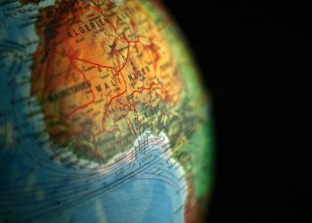 Africa Algeria Mali map