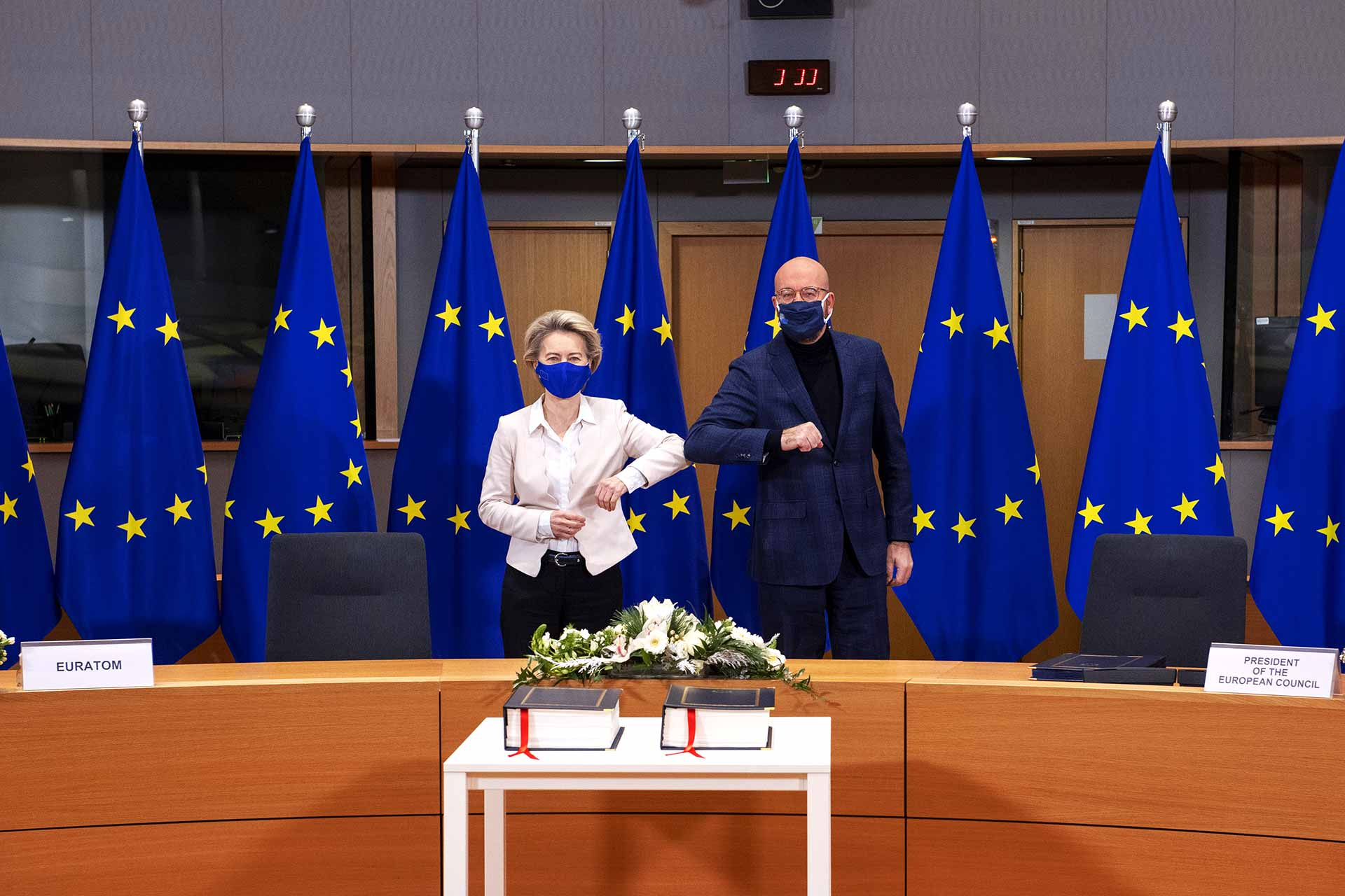 Ursula von der Leyen and Charles Michel sign Brexit Trade Deal