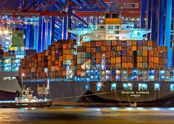 container ship hamburg port international trade