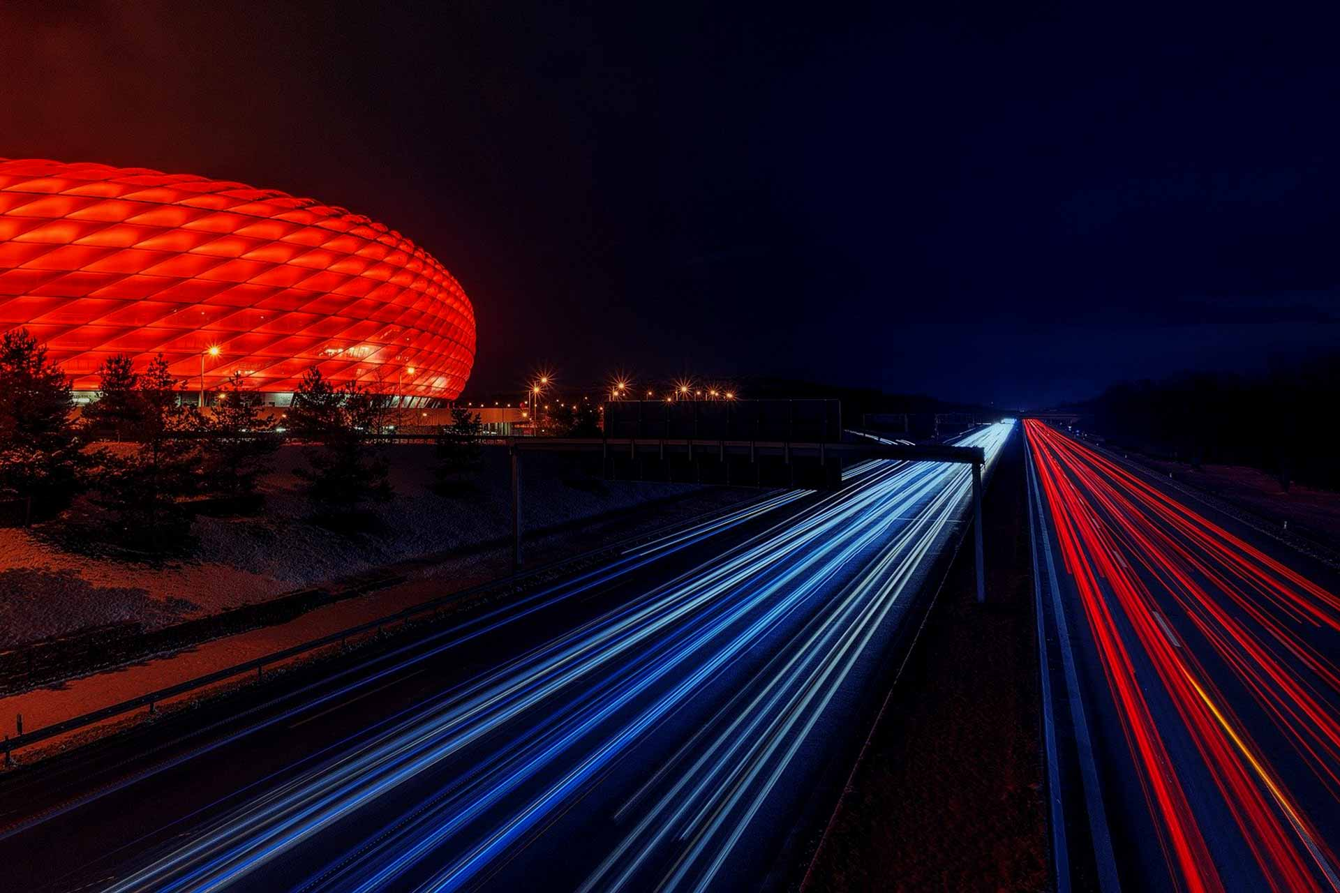 football-stadium Allianz Arena - home of FC Bayern Munich