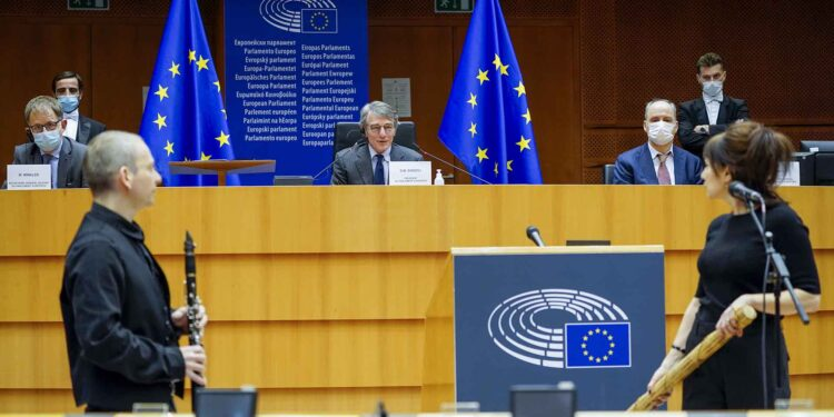 David Sassoli at International Holocaust Day in European Parliament in Brussels