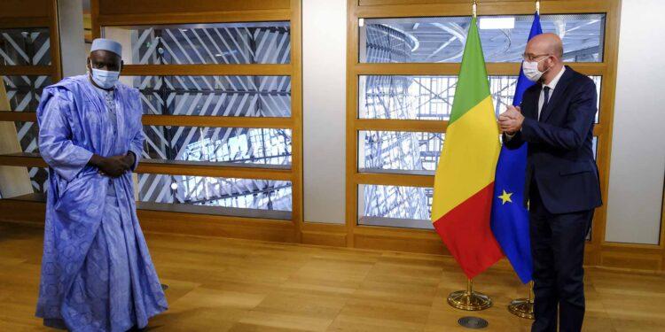 Mr Mamadou Mandjou BERTHE, Ambassador, Head of Mission of Mali; Mr Charles MICHEL, President of the European Council