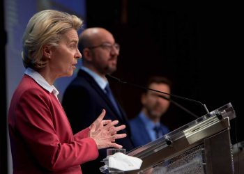 Charles Michel, on the right, and Ursula von der Leyen