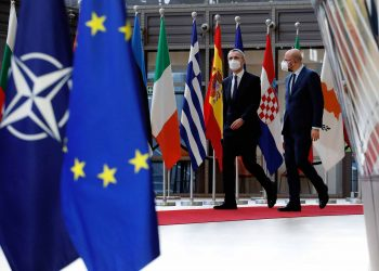 Jens STOLTENBERG, Secretary General of NATO and Charles MICHEL, President of the European Council