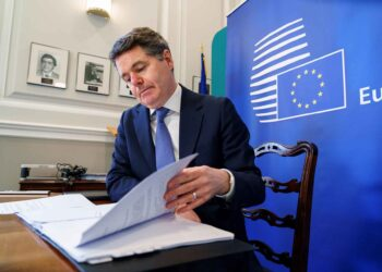 Paschal Donohoe at Eurogroup meeting