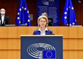 President von der Leyen at the signature of the Joint Declaration on the Conference on the Future of Europe