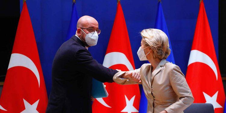 Ursula von der Leyen, Charles Michel after video conference with Turkey