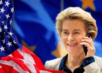 Ursula von der Leyen on the phone with Joe Biden