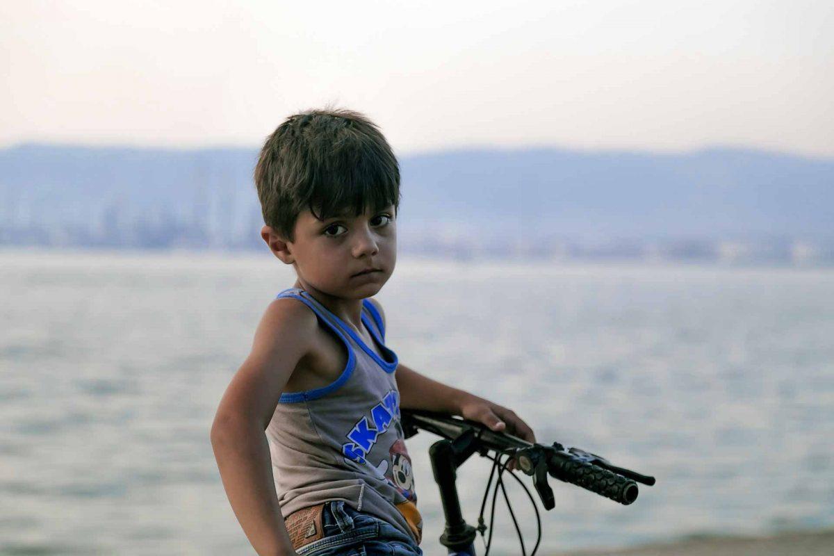 child in war in Syria