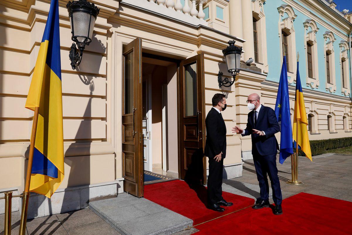Mr Charles MICHEL, President of the European Council; Mr Volodymyr ZELENSKYY, President of Ukraine