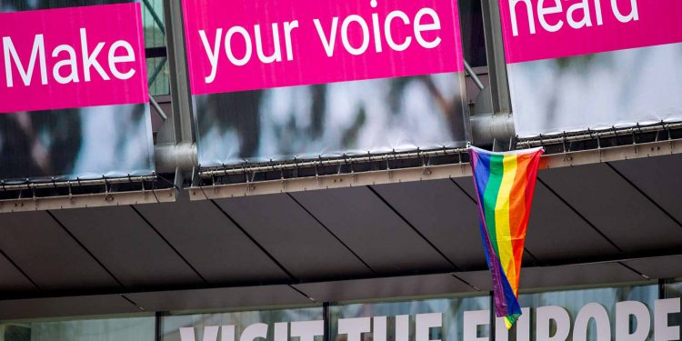 Rainbow flag in Brussels LGBTI rights