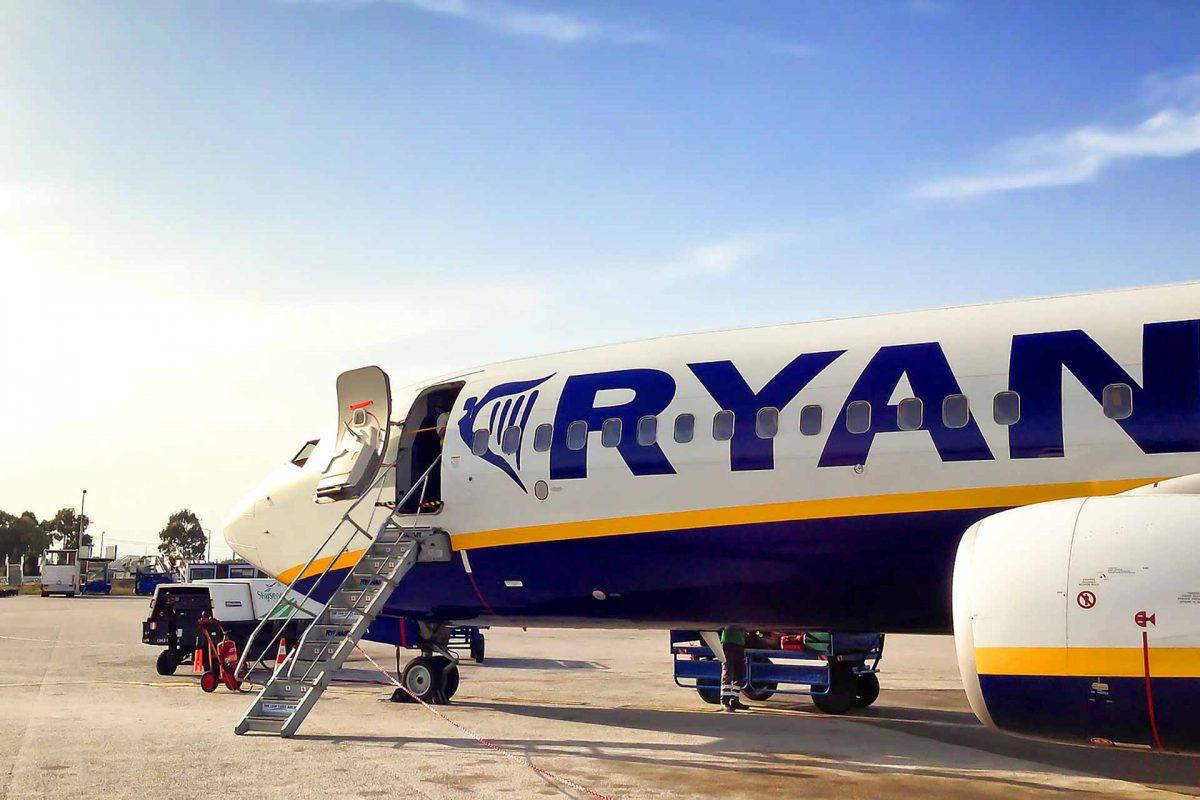 Ryanair plane landed
