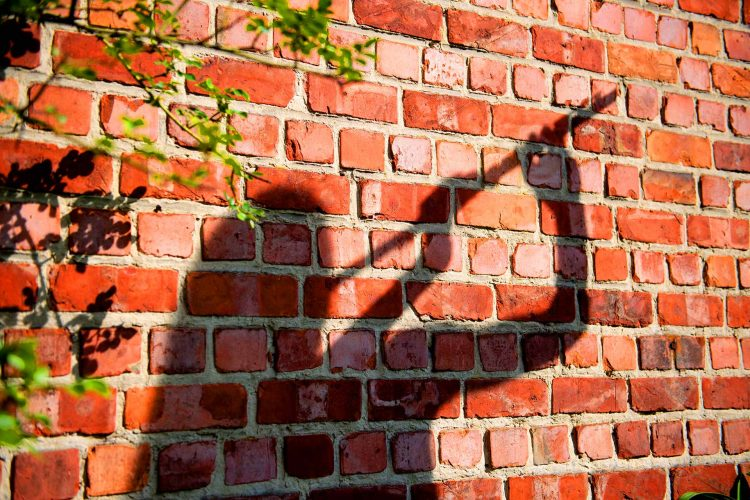 The shadow of a musician playing transverse flute