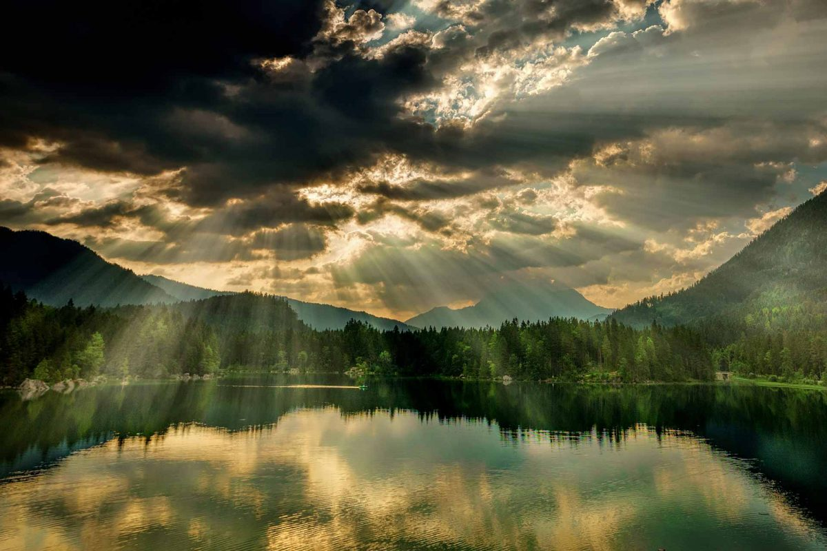 panorama lake water mountains