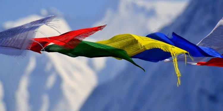 Tibetan prayer flags NEPAL